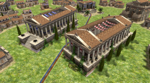 A screenshot showing the new Seleucid wonder in-game