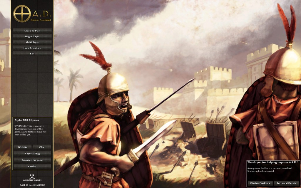 Carthage themed main menu background