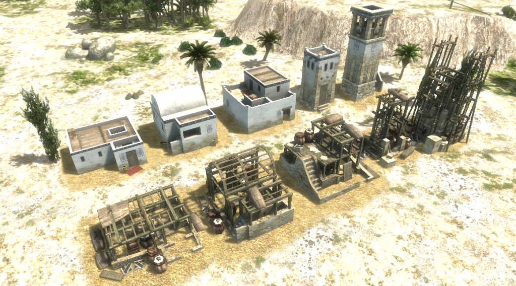 Models to be used for buildings being constructed