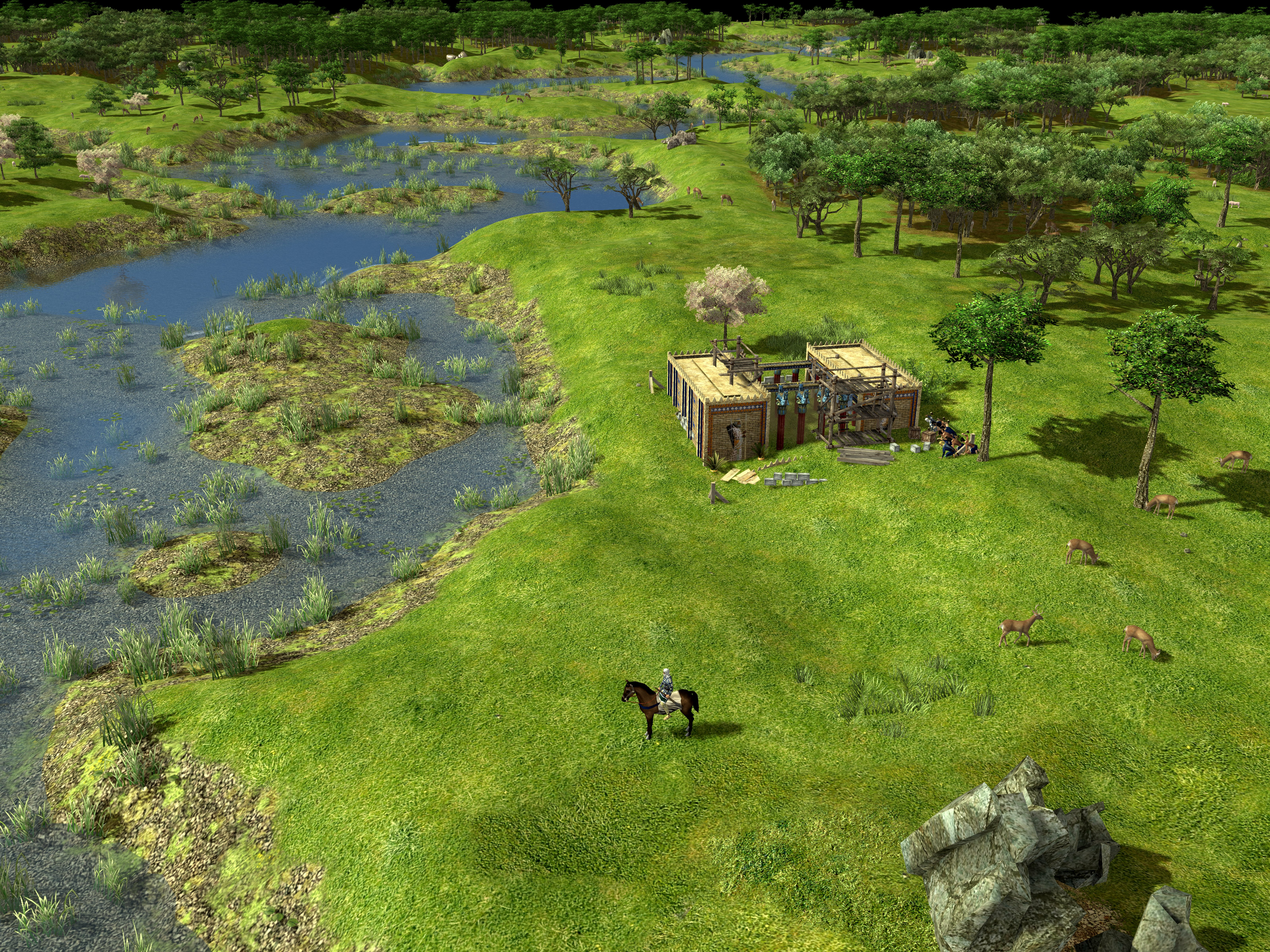 A Persian player starting the city at